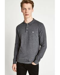 Jack Wills - Alfie Long Sleeve Knitted Polo Shirt - Lyst