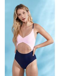 5856d5fe98487 Jack Wills Porthcurno Cutout Bathing Suit - Lyst