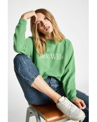 Jack Wills - Enford Raglan Crew - Lyst