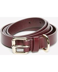 Jack Wills - Huntlywood Skinny Leather Belt - Lyst