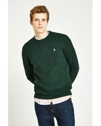 Jack Wills - Marlow Wool Blend Cable Knit Crew Jumper - Lyst