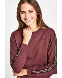 Jack Wills - Luxmore Metallic Stripe Crew - Lyst