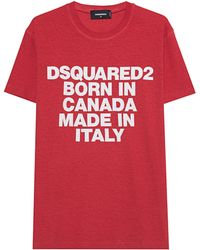 DSquared² - Logo Canada Red - Lyst