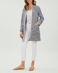 Jaeger - Textured Patch Pocket Coat - Lyst