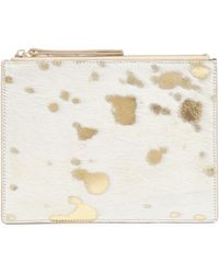 Jaeger - Esther Gold & White Animal Pouch - Lyst