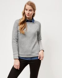 Jaeger   Jersey Grey Marl Sweatshirt   Lyst