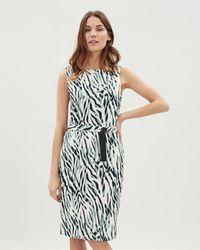 Jaeger - Zebra Print Jersey Dress - Lyst