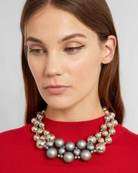 Jaeger - Holly Pearl Row Necklace - Lyst