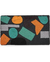 Jaeger   Abstract Beaded Clutch   Lyst