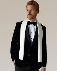 Jaeger Silk Plain Dress Scarf - White