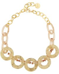 Jaeger - Gina Disc Ring Short Necklace - Lyst