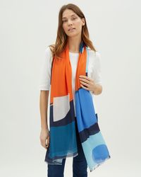 Jaeger - Bright Block Shapes Scarf - Lyst