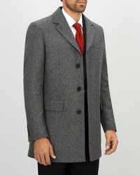 Jaeger - Tonal Texture Overcoat - Lyst