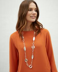 Jaeger - Courtney Ovals Long Station Necklace - Lyst