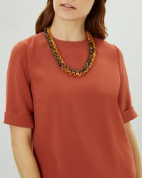 Jaeger - 2 Row Small Loops Necklace - Lyst