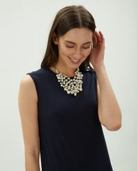 Jaeger - Faith Pearl Cluster Necklace - Lyst