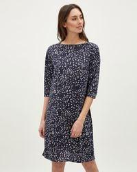 Jaeger - Ditsy Print Jersey Dress - Lyst