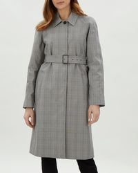 Jaeger - Prince Of Wales Check Trench Coat - Lyst