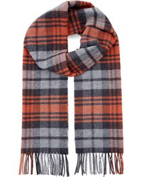 Jaeger | Wool Highlight Check Scarf | Lyst