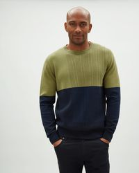 Jaeger - Plated Colour Block Crew - Lyst