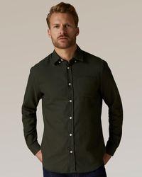 Jaeger Wool-cotton Flannel Shirt - Multicolour