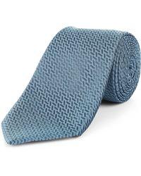 Jaeger - Silk Straw Jacquard Tie - Lyst