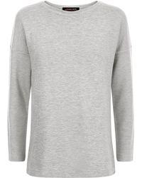 Jaeger - Jersey Split Back Sweatshirt - Lyst