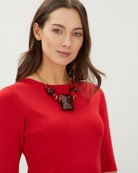 Jaeger - Sarah Large Stone Necklace - Lyst