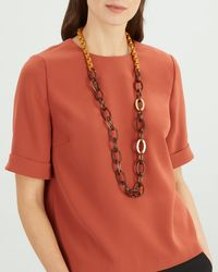 Jaeger - Links Long Necklace - Lyst