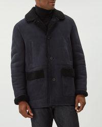 Jaeger - Shearling Overcoat - Lyst