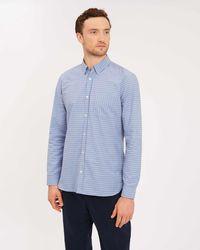 Jaeger - Cotton Horizontal Stitch Detail Shirt - Lyst