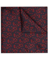 Jaeger | Micro Floral Pocket Square | Lyst