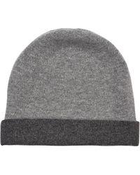 Jaeger - Reversable Cashmere Hat - Lyst