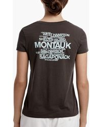 James Perse - Long Island Beach Graphic Tee - Lyst