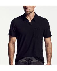James Perse - Cotton Linen Pocket Polo - Lyst