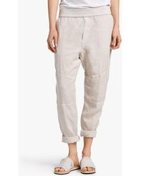 James Perse - Canvas Linen Patched Pant - Lyst