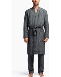 James Perse - Jersey Lined Linen Robe - Lyst