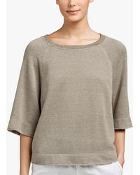 James Perse - Plush Terry Boxy Sweat Top - Lyst