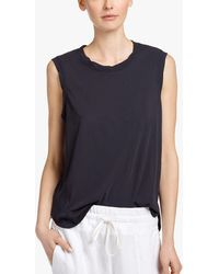 James Perse - Glass Cotton Muscle Tank - Lyst