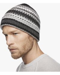 James Perse - Chunky Cashmere Stripe Beanie - Lyst