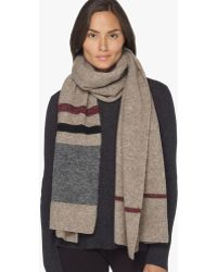 James Perse - Wool Blend Striped Scarf - Lyst