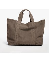 James Perse Large Canvas Tote - Brown