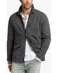 James Perse - Rigid Jersey Field Jacket - Lyst