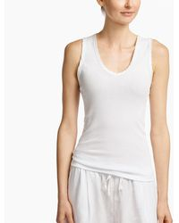 James Perse - Satin Binding Tubular Tank - Lyst