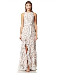 Jarlo - Petal All Over Cutwork Lace Maxi Dress With Bow Detail Waist - Lyst