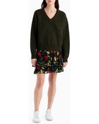 Jason Wu   Floral Ruffle Mini Skirt   Lyst