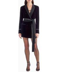 Jason Wu - Diane Kruger X Grey Velvet Shirt Dress - Lyst