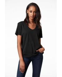 J Brand - Johnny Short Sleeve Tee In Black - Lyst