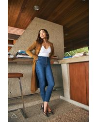 J Brand - Sustainable Natasha Sky-high Cropped Super Skinny - Lyst