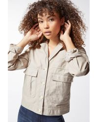 J Brand - Tracy Utility Jacket In Driftwood - Lyst
